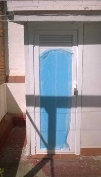 Puerta salida azotea
