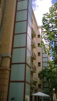 Estructura para ascensor exterior lacado Rojo
